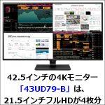 42.5インチの4Kモニター「43UD79-B」は、21.5インチフルHDが4枚分
